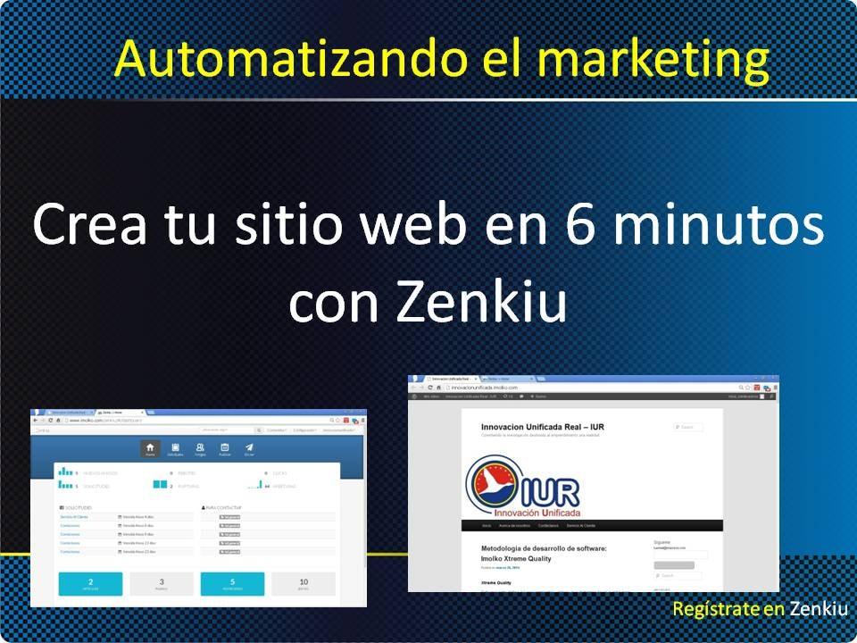 Automatizando el Marketing - Como crear un sitio web en 6 minutos