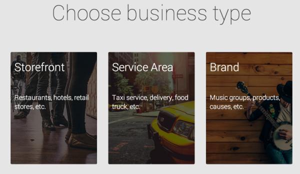 Tipos de Negocio para Google My Business