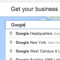 Introduce tu direccion en Google My Business