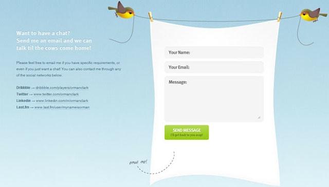 Ejemplo de formulario de contactenos